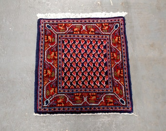 1980s Hand-Knotted Vintage Persian Mir-Sarouk Rug (2791)