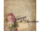 Digital Shabby Rose Paper, Scrapbook Digital Paper, Shabby Rose Collage Sheet, Printable Background Paper. No. 718