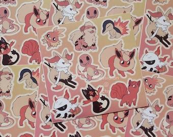 Fire Vinyl Sticker Sheet