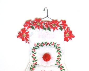 Christmas  Hanky Dress with Poinsettias