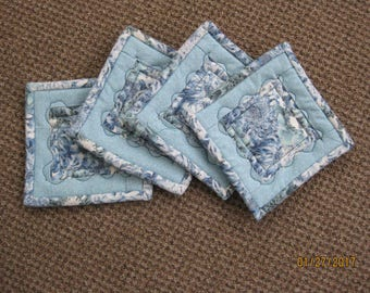 Coasters - Heat Resistant - Quilted - Blue