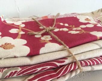 Fabric bundle of Laura Ashley reds
