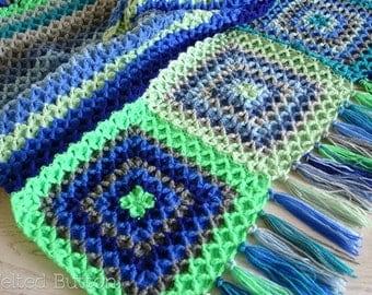 Crochet Pattern Parrotlet's Flight Blanket, Afghan, Throw