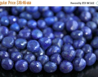 Sale AAA peacock blue Lapis Lazuli onion gemstone briolette-faceted dark blue lapis large candy kiss briolette beads-set of 10 Pcs-9-11 mm N