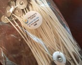 100 Premier 750 candle wicks - great for soy candles