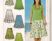 A 3/4-Style Circle Skirt w/Length, Ruffle/Tier, Belt & Hem Finish Variations Pattern for Women: Uncut - Sizes 12-14-16-18 ~ Simplicity 4546