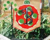 Burlap Garden Flag Christmas Ornament