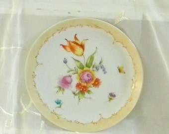 Spring Sale Vintage Beautiful Hand Painted Floral China Plate, Painted for the CAPA 1980, 2nd Annual Show