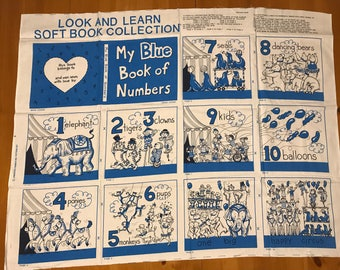 "A ""My Blue Book of Numbers"" Fabric Book Panel"