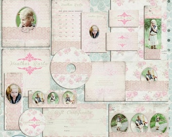 ON SALE Pink Premade Marketing Set, Pre made marketing, photoshop Template, psd files - INSTANT Download