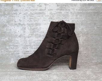 20%OFF Vtg Brown Nubuck Leather Suede Laceup Boots
