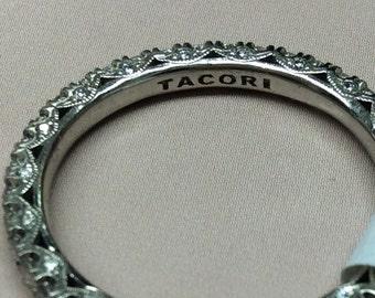 Platinum Tacori Diamond Eternity Wedding Band