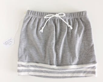 2T gray knit play skirt, summer skirt, toddler skirt
