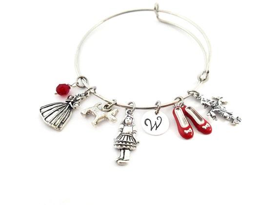Wizard of Oz Bracelet - Fairy Godmother Bracelet - Adjustable Bangle - Birthstone Bracelet - Personalized Jewelry - Gift For Her