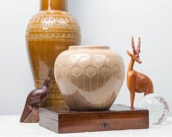Bitossi Impressed Leaf Glazed Pot