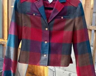 Vintage women's plaid jacket