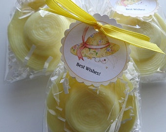 10 Straw Hat Soap Favors, Beach Parties, Bridal Showers, Spring Events, Birthday Parties, Special Occasions, Cinco De Mayo