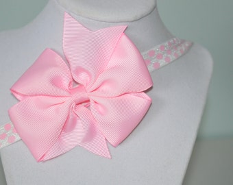 Pink Elastic Infant Headband