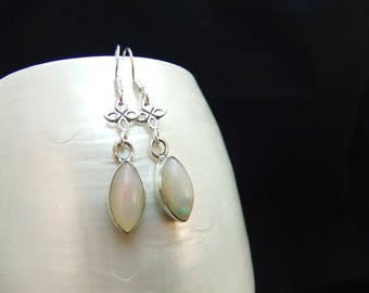 Ethiopian Opal Sterling Silver Earrings