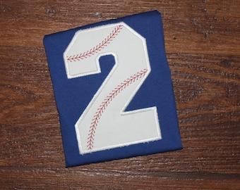 Baseball Number Boys First Second Birthday Shirt