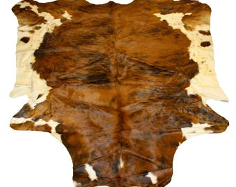 Glacier Wear Cow Hide Leather Hair-On Rug #040