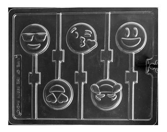 Emoji Chocolate Sucker Lollipop Molds, Food Crafts, Candy Making