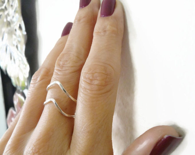 Sterling Silver Ring Chevron Ring Summer Jewelry Handmade Jewelry For Her