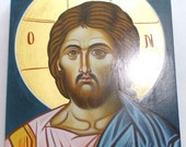 Jesus Christ Hand-Painted(Written) byzantine icon.All  icons are direct from the artist.SPECIAL ORDER