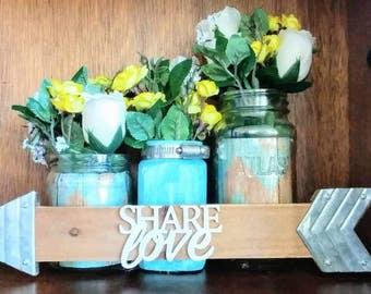 Share Love 3 set mason jar vases
