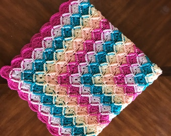 Bavarian Crochet Blanket, afghan, crochet afghan, MADE TO ORDER