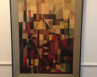1960s Original & Signed Mid Century Modern Abstract Painting