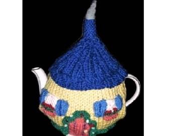 Hand Knitted Tea Cosy, Tea Cosy, Tea Cozy, Fairy Cottage Tea Cosy