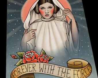 Princess Leia Star Wars Tattoo Flash Art Print