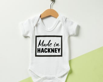 Personalised Made In Babygrow