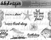 Sea Creatures Digital Stamp Set