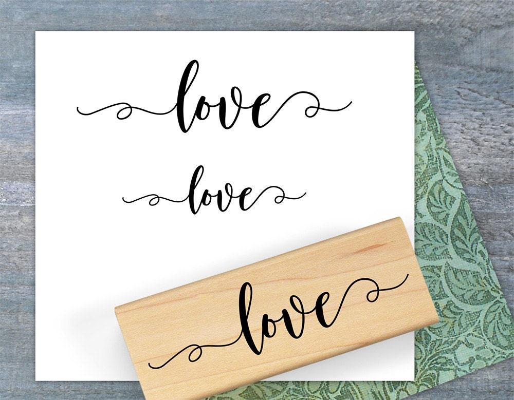 Love Calligraphy Stamp Love Stamp Valentines Day Stamp