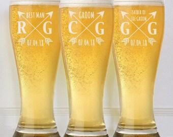 Groomsmen Gifts Wedding Glasses Best Man Father of the Bride Groom Usher Engraved Wedding Favor Idea Custom Bulk Personalized Discount