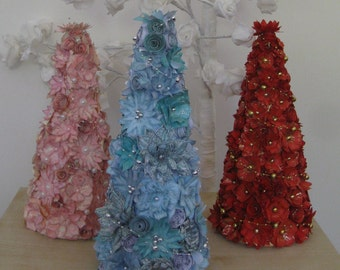Hand Crafted Floral Decorative Tree available in 3 colours (others made to order) *Free P&P*