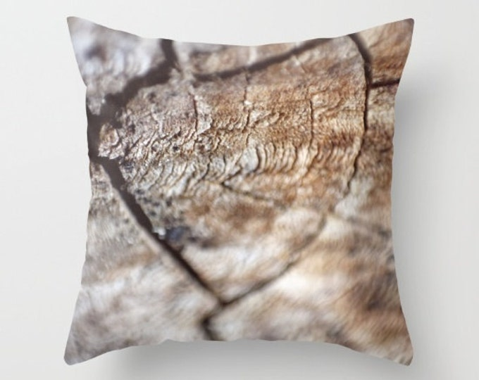 Wood Look Pillow Cover - Cover Only - Wood Photo - Sofa Pillow - Bed Pillow - Decorative Pillow -  Made to Order