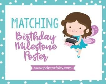 Matching Birthday Board - Milestone Board