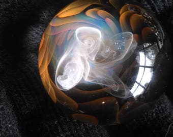 rabbit hole smoke 24kt gold 999.9 silver fumed marble sphere