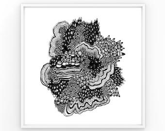 No. 6   Ink Drawing Print