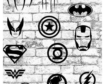 Superhero Vinyl Decal, Batman Decal, Spiderman Decal, IronMan Decal, Superman Decal, Flash Decal, Wolverine Decal, Captain America Decal