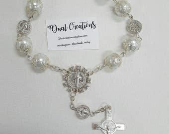 Beautiful Rosary. 12 pcs good for baptism, communion, confirmation,wedding,anniversaries,novenarios. and more...