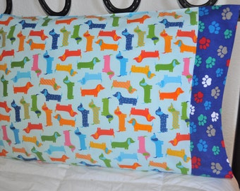 Handmade standard size pillowcase Dachshund Dogs