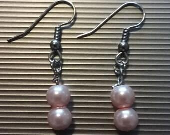 Pink Beaded Earrings 40