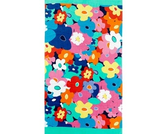 Poppy Beach Towel for poolside and beach this large Towel is the perfect personalized gift. It's all in the details, poppy print!