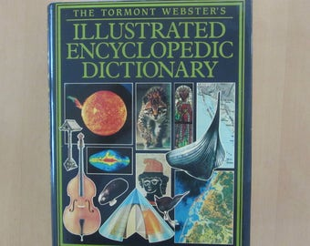 ILLUSTRATED ENCYCLOPEDIC DICTIONARY Tormont Webster (1990 Hardcover) - illustrations - maps -  excellent large reference book