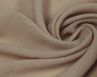 Taupe 59'' Solid Linen Look Light-Weight Poly Fabric by the Yard - Style 688