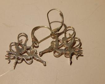 Tango Dancing  Sterling Silver, Danging Earrings, as above